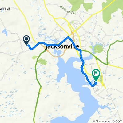 Route from 1271 Gould Rd, Jacksonville