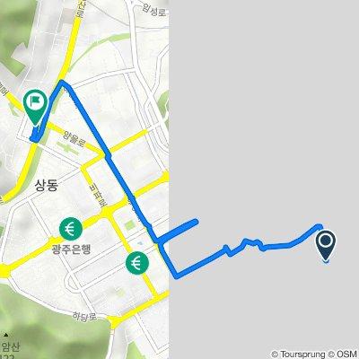 옥암동 1376, 목포시 to 상동 220, 목포시