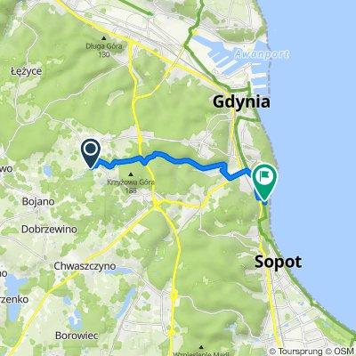 Trasa z Stanisława Filipkowskiego 12A, Gdynia