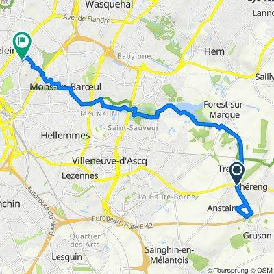 De 3 Route Nationale, Tressin à Résidence Breteuil, Lille