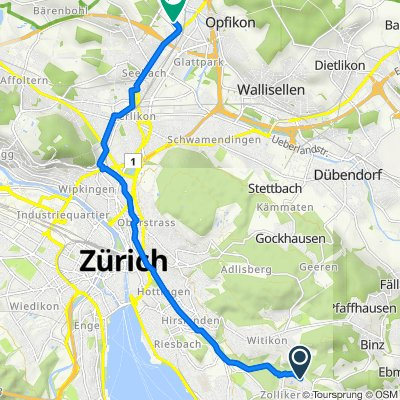 Im Grossacher 10, Zollikerberg nach Sägereistrasse 25, Glattbrugg