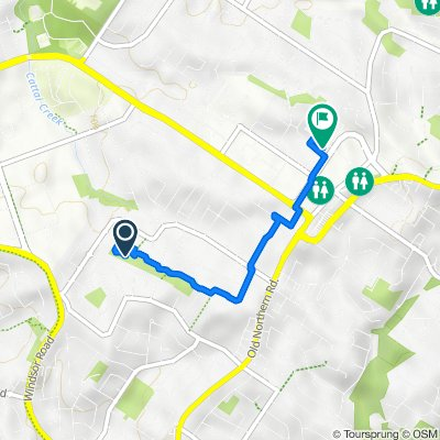 Route to 22 Pennant Way, Castle Hill