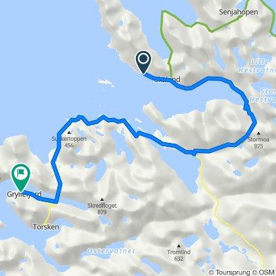 Bergsfjordveien 1785, Skaland to Nerveien, Gryllefjord