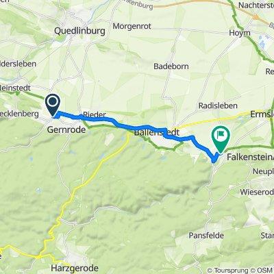 Chausseestraße 5, Quedlinburg nach Hauptstraße 52, Falkenstein/Harz