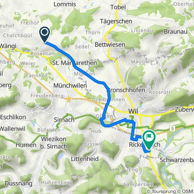 Landstrasse, Wängi nach Breitestrasse 6, Rickenbach b. Wil
