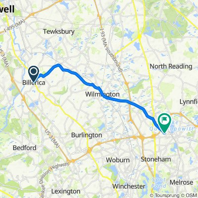 456–458 Boston Rd, Billerica to 9 Davidson Rd, Wakefield