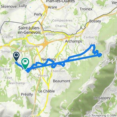 De Route de Pré Vally, Feigères à 148 Route de Grossaz, Feigères