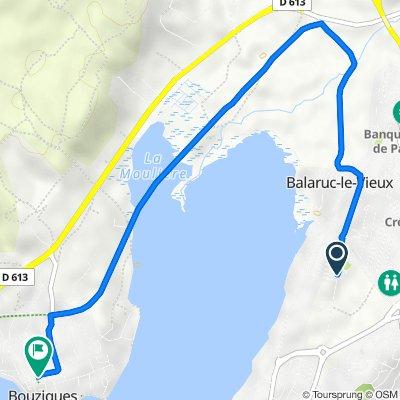 De Route de Montpellier, Balaruc-les-Bains à 47 Grand-Rue Étienne Portes, Bouzigues
