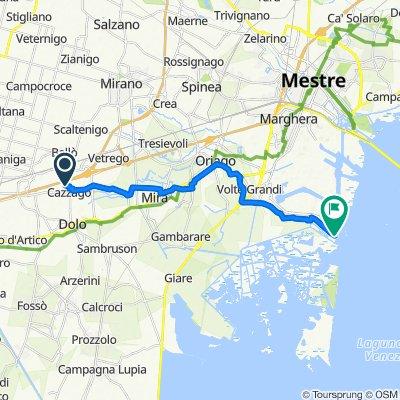 Da Via Lago di S. Croce 1, Cazzago a Via Moranzani 88, Venezia