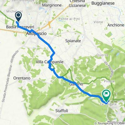 Da Località Pistoresi 19/D, Altopascio a Via Romana Lucchese 120, Le Vedute