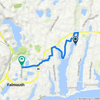 120 Shorewood Dr, East Falmouth to 310 Gifford St, Falmouth