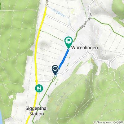 Weissensteinweg 5, Würenlingen nach Poststrasse 39, Würenlingen