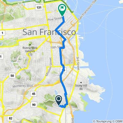 291 Raymond Ave, San Francisco to 650 California St, San Francisco