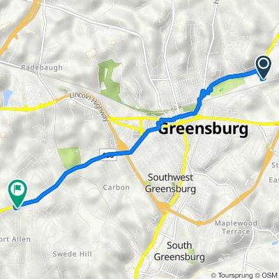 Collier Street 103, Greensburg to Pennsylvania 136 4504, Greensburg