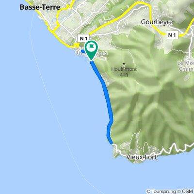 De Boulevard Amédée Valeau, Basse-Terre à Boulevard Amédée Valeau, Basse-Terre