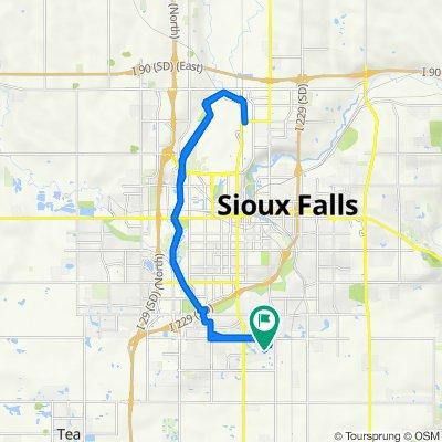 814 E El Dorado Ct, Sioux Falls to 812 E El Dorado Ct, Sioux Falls