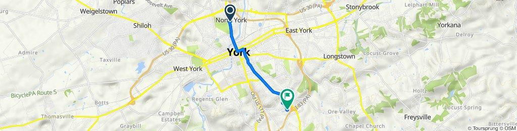 East 7th Avenue 7, York to Knob Hill Road 2405, York