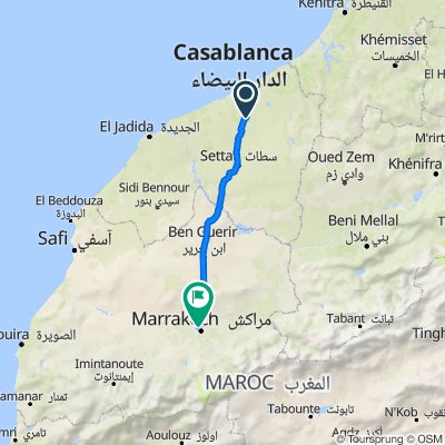 Boulevard Oum Errabi, Settat to Avenue de Ouaqalla 7–15, Gueliz