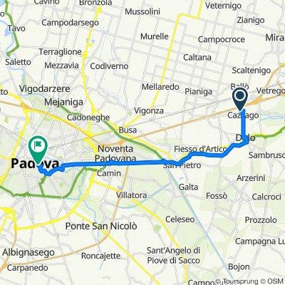 Da Via Lago di S. Croce 1, Cazzago a Via 8 Febbraio 1848 13, Padova