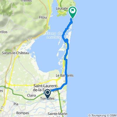 Itinéraire à partir de 14 Rue Pierre de Ronsard, Torreilles