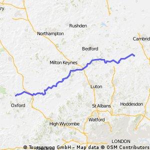 Melbourn to Kidlington (i.e. Royston to Oxford)