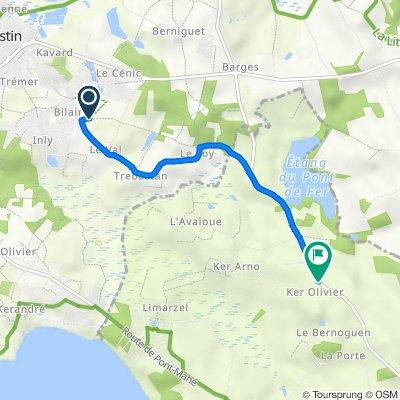 Itinéraire vers D83, Assérac