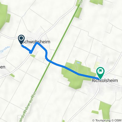 De 21 Rue des Lilas, Schwobsheim à 20 Rue Principale, Richtolsheim