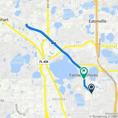 3333 Edgewater Dr, Orlando to 4004 Edgewater Dr, Orlando