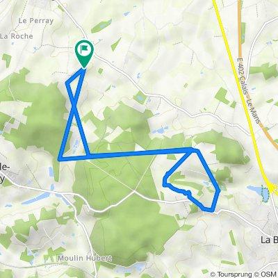 Itinéraire vers Thorigné, Sainte-Sabine-sur-Longève
