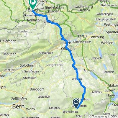 Gärbi 3, Schüpfheim nach Marktplatz 9, Basel