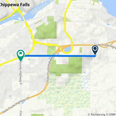 50th Avenue 16102, Chippewa Falls to Woodward Avenue 1017, Chippewa Falls