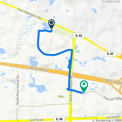 Route from 2345 Parkside Dr, Schaumburg