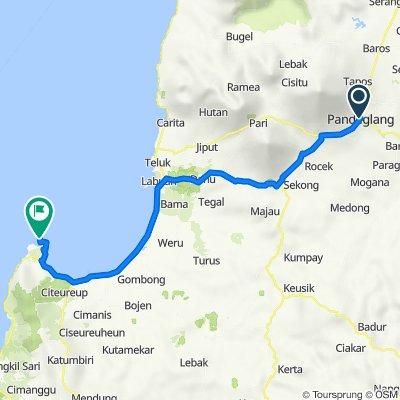 Route from Jalan Pendidikan, Pandegelang