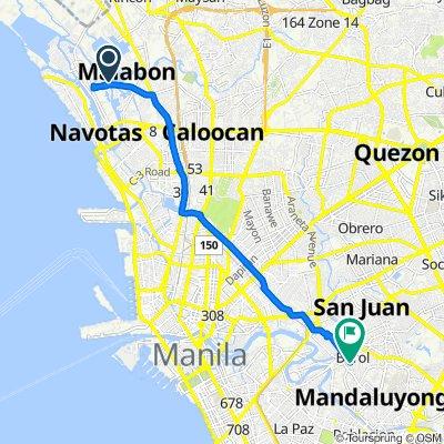 Baritan-Muzon Bridge 1, Manila to Star 5, Mandaluyong