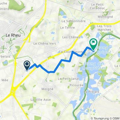 De 3 Rue du Gros Guillaume, Le Rheu à Moulin d'Apigné, Le Rheu