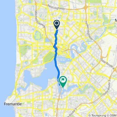 Route from 12 Swanston Street, Yokine