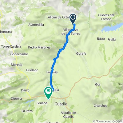 De GR-6101, Dehesas de Guadix a Carretera Granada 27, Purullena