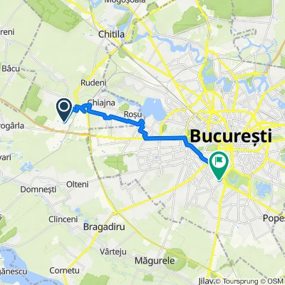 Strada Bujorului, Dragomirești-Vale to Strada Gheorghe Popescu 26, București