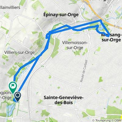Itinéraire à partir de Rue de la Source, Saint-Michel-sur-Orge