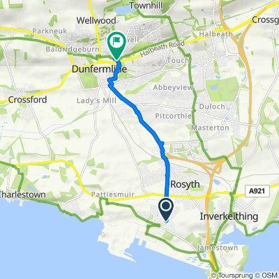 123 McGrigor Road, Dunfermline to 17–37 Gardeners' St, Dunfermline