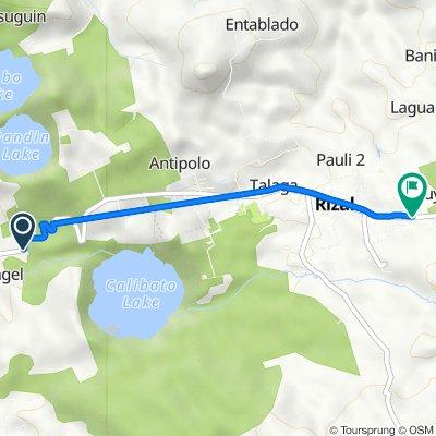 San Pablo-Rizal-Nagcarlan-Liliw Road, San Pablo City to San Pablo-Rizal-Nagcarlan-Liliw Road, Rizal