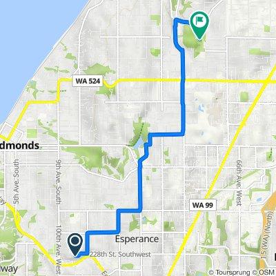 22807 96th Pl W, Edmonds to 18927 75th Ave W, Lynnwood