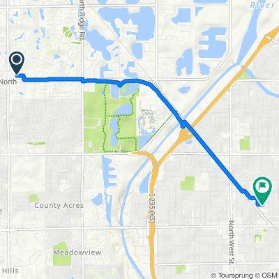 8558 W 21st St N, Wichita to 3311 W Murdock St, Wichita