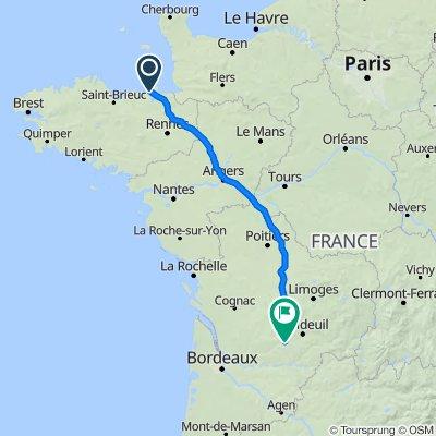 Saint Malo to Periguex