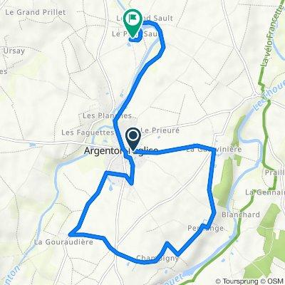 De 22 Rue de la Gatevinière, Argenton-l'Église à 39 Impasse du Puits Commun, Argenton-l'Église