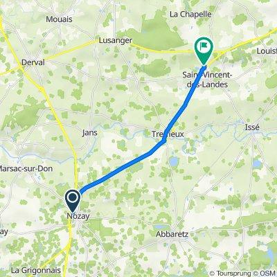 De Route de Marsac 25, Nozay à D69 67, Saint-Vincent-des-Landes