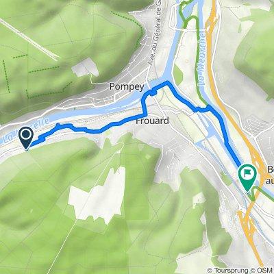 32 Route de Frouard, Liverdun naar Chemin de la Digue, Frouard