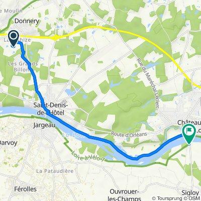 2 Impasse de la Touche, Donnery naar 155–267 Route de Châteauneuf, Sigloy