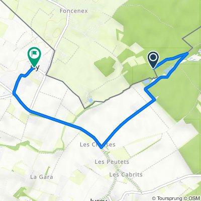 Itinéraire vers Route de Gy 168, Gy