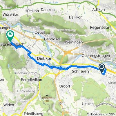 Zürcherstrasse 161, Schlieren nach Im Grund 3, Spreitenbach